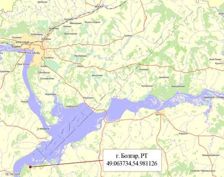 болгар на карте