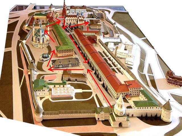 макет казанского кремля