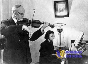 А.Е.Арбузов с внучкой Мариной.