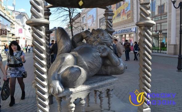 Памятник казанскому коту на улице баумана
