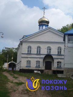 В 1866г был построен каменный храм с главным престолом иконы «Всех скорбящих радости» в архимандритском корпусе